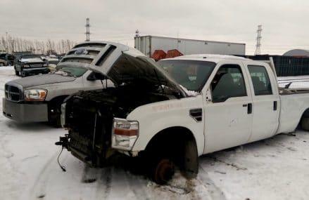Two Crew Cab Pickups at the Junk Yard! Near 6710 Waterbury CT