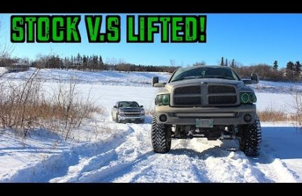 STOCK VS LIFTED TRUCK IN SNOW! in 39776 Woodland MS