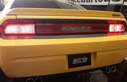 Dodge challenger yellow jacket con cratemufflers stype de BORLA. Found at 20558 Washington DC