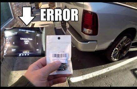 Dodge Ram Trucks – License Plate LED Bulb ATTEMPT #3 – NEW INTERESTING INFO!!! Local 74063 Sand Springs OK