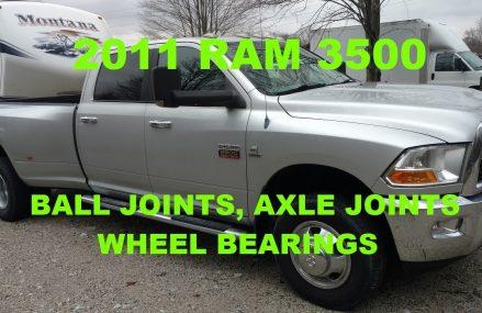 PT 1) 2011 RAM 3500 DUALLY 4X4 BALL JOINTS, AXLE JOINTS & HUB BEARINGS Area Code 31402 Savannah GA