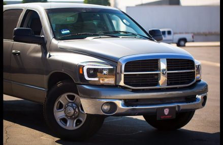 Spyder Auto Installation: 2006-2008 Dodge RAM1500 Headlight with LED Light Bar Found at 75097 Weston TX