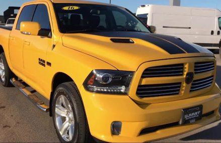 2016 Dodge Ram 1500 4×4 Crew Cab Sport: Crew-short 5'7 Box-stinger Yel Area Code 56385 Villard MN