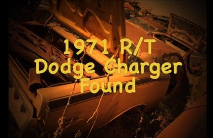 1971 R/T Dodge Charger stashed in a wrecking yard For 10504 Armonk NY