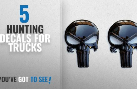 Top 10 Hunting Decals For Trucks [2018]: Premium Black 3D Metal Decal / Sticker (2 pack) – Tactical Local 72395 Wilson AR