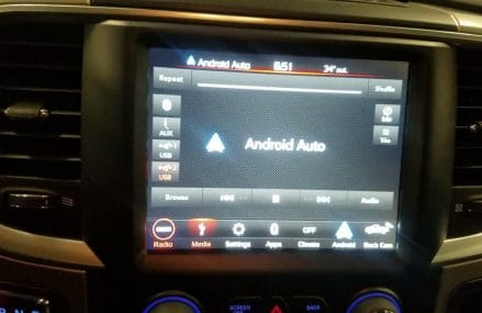 2018 Ram 1500 radio update, Android Auto. Found at 10603 White Plains NY
