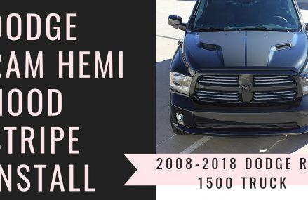 2008-2018 Dodge Ram Rebel Hemi Hood Stripes Dry Install Near 20071 Washington DC