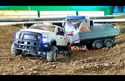 STUNNING RC DODGE RAM TRUCK, RC VOLVO EXCAVATOR AND MERCEDES TRUCK ON A CONSTRUCTION SITE! Near 92155 San Diego CA