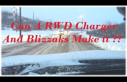 RWD Dodge Charger vs. Steep Hill in Snow Now at 14706 Allegany NY