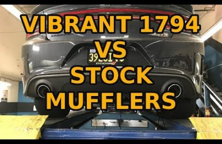Charger Scat pack – Vibrant 1794 resonators vs stock mufflers From 24521 Amherst VA