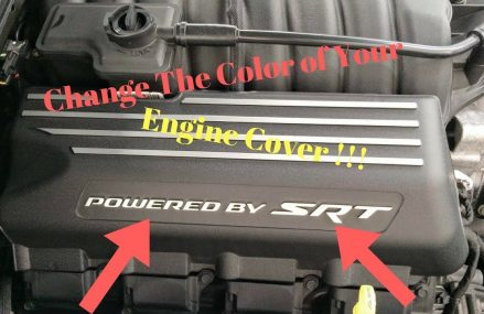 Engine Cover Dress Up on a 2018 Challenger Scat Pack From 68004 Bancroft NE