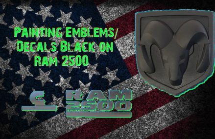Painting Ram 2500 Decals / Emblems Black Local Area 50702 Waterloo IA