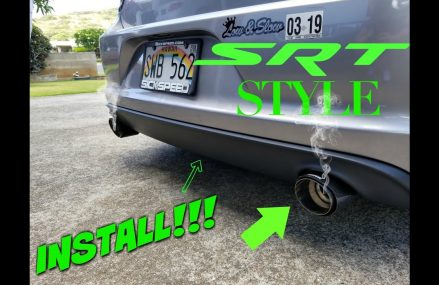 How To Install Rear Valance Diffuser Panel and Carbon Fiber Exhaust Tips Local Area 2474 Arlington MA