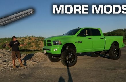LIFTED RAM 2500 Gets Hidden BLACK Light Bar *Sleek* in City 17582 Washington Boro PA