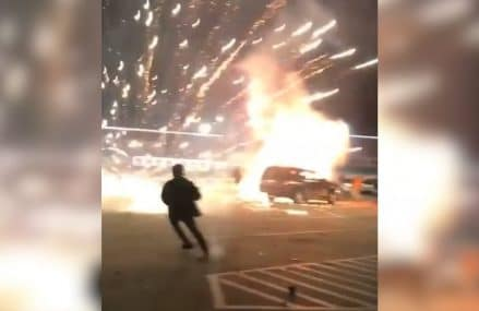 New Year's Eve party goes wrong when 600 fireworks ignite from car Near 31195 Atlanta GA