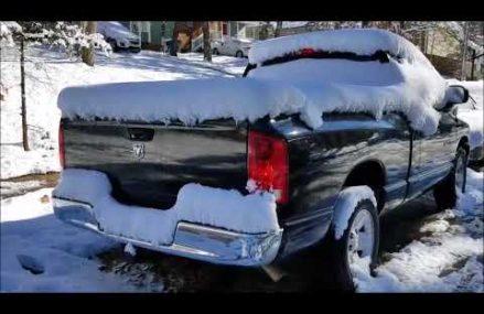 Dodge RAM 1500 V6 cold start and stock exhaust sound in 93405 San Luis Obispo CA