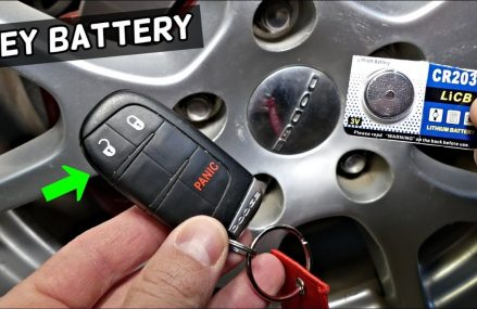 HOW TO REPLACE KEY FOB BATTERY ON DODGE CHALLENGER 2013 2014 2015 2016 2017 2018 2019 Near Maple Springs 14756 NY