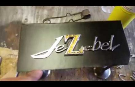 Making our own Vintage Car emblem badge for my 1970 Charger Jezebel Around Zip 87154 Albuquerque NM