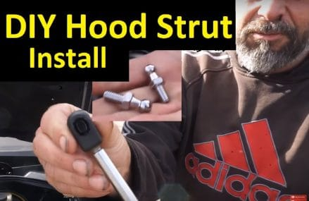 How to Install Hood Strut Kit ~ DIY Bolt on Shocks Fix Amazon.com Part below in 55985 West Concord MN