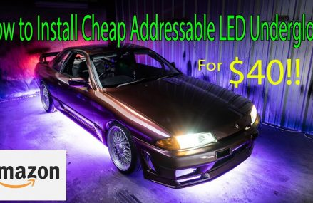 How to Install Cheap Under Glow w/ Addressable LEDs from Amazon in 45101 Aberdeen OH
