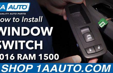 How to Install Replace Front Passenger Window Door Lock Switch 2016 Ram 1500 Local 47992 Westpoint IN