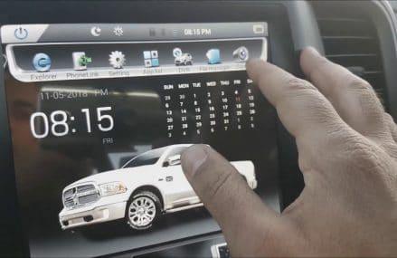 Installation Tesla style Android Navigation backup camera for Ram 1500 2500 Area Code 1984 Wenham MA