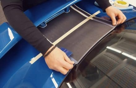 Ford Mustang HYPER RALLY Racing Stripe Installation Video by MoProAuto at 58001 Abercrombie ND
