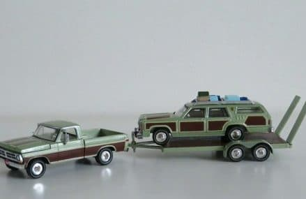 Unboxing: Greenlight 1:64 1972 Ford F100/1979 Wagon Queen Family Truckster/Flatbed Trailer Area Near 16693 Williamsburg PA
