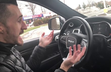 DRIVEWAY DEMONS REVIEWS MY JEEP SRT.  I REVIEW HIS CHARGER HELLCAT  !!! Now at 68301 Adams NE