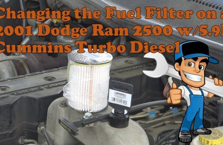 2001 Dodge Ram 2500 with the Cummins 5.9l turbo diesel Fuel Filter change in 1267 Williamstown MA