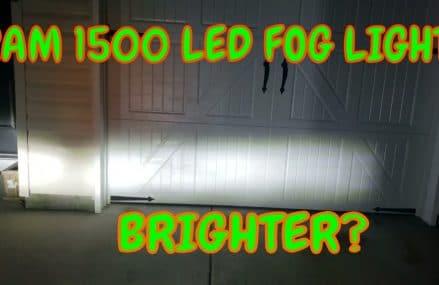 Ram 1500 Fog Light Upgrade | Super BRIGHT? Local 31412 Savannah GA