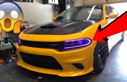 VOICE ACTIVATING COLOR CHANGING HEADLIGHTS ON A DODGE CHARGER DAYTONA! (NOT CLICKBAIT) Now at 46015 Anderson IN