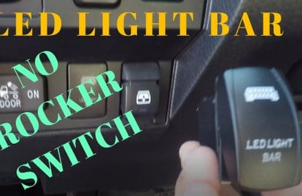 LED Light Bar to OEM switch Zip Area 4285 Weld ME