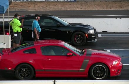 Hellcat vs Mustang Boss 302 in 52701 Andover IA