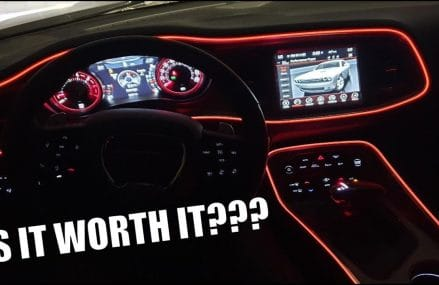 NEW $15 MOD: HOW TO INSTALL EL WIRE INTERIOR LIGHTING ON THE DODGE CHALLENGER SCAT PACK From Marietta 30066 GA