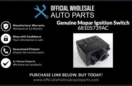 Genuine Mopar Ignition Switch  (P/N:  68105739AC) in 2702 Assonet MA
