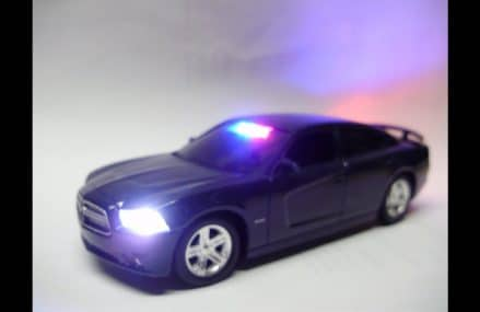 Reagan's unmarked Dodge Charger Pursuit police diecast model with working lights From 11102 Astoria NY