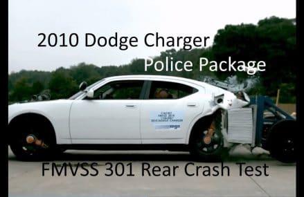 2006-2010 Dodge Charger Police Package FMVSS 301 Rear Crash Test (50 Mph) For 61414 Altona IL