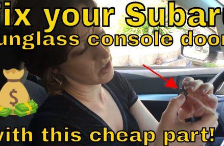 Replacing 2014 Subaru Outback Overhead Console Lock Clip Area Code 24293 Wise VA