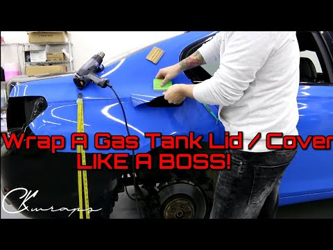 How To Vinyl Wrap A Gas Tank Lid / Cover Like a BOSS! 2018