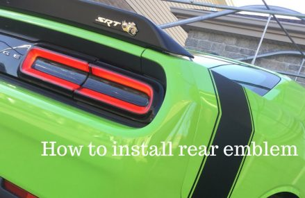 How to install rear scat pack emblem Local Area 79503 Avoca TX