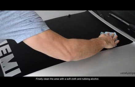 2005 – 2010 Dodge Charger HEMI srt8 hood scoop decal installation – Wet method (Real Time) Now at 12241 Albany NY