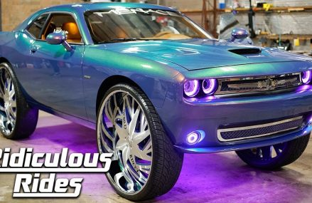 Pimped Dodge Challenger Boasts MASSIVE 34-Inch Rims | RIDICULOUS RIDES From Masardis 4759 ME