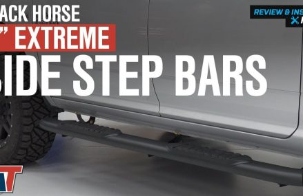 2009-2018 Ram 1500 Black Horse 5″ Extreme Black Side Step Bars Quad & Crew Cab Review & Install Locally At 1475 Winchendon MA