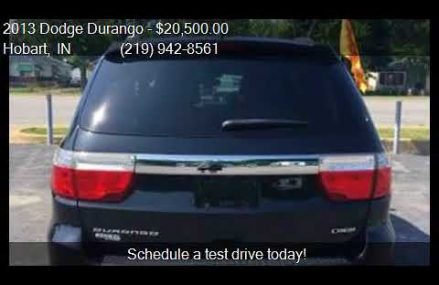 2013 Dodge Durango Crew 4dr SUV for sale in Hobart, IN 46342 Baton Rouge Louisiana 2018