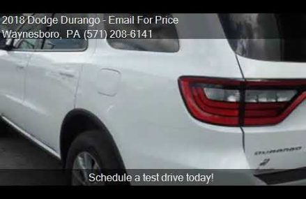 2018 Dodge Durango  for sale in Waynesboro, PA 17268 at BUCH Hollywood Florida 2018