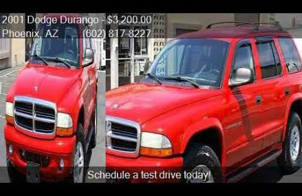 2001 Dodge Durango SLT 4WD 4dr SUV for sale in Phoenix, AZ 8 Gilbert town Arizona 2018