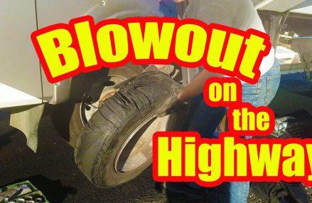 Motorhome RV Living | Tire Blowout Near Phoenix, First Friday Phoenix From Maricopa 93252 CA