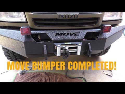 MOVE BUMPER 5 / Smittybilt winch install and mounting the bumper Dodge Ram Winch Bumper