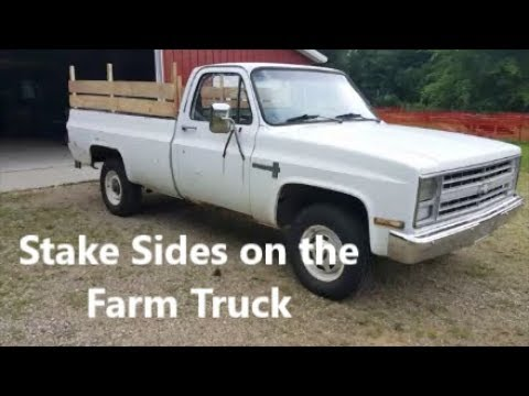 Stake Sides on the Farm Truck Dodge Ram Bed Rail Caps